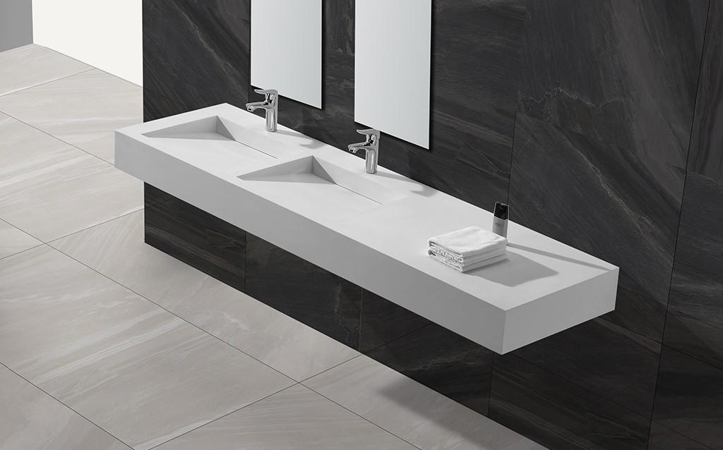 sturdy rectangular wash basin customized for bathroom