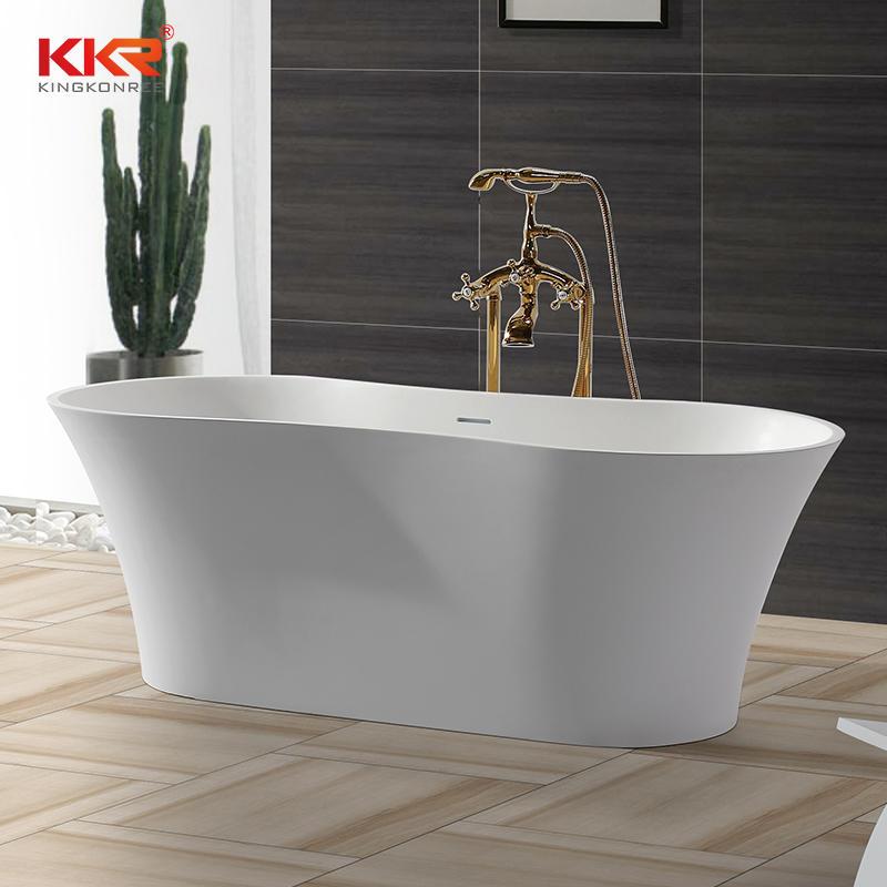 Tina de baño de mármol de resina acrílica estándar de Hotel de cinco estrellas KKR-B045