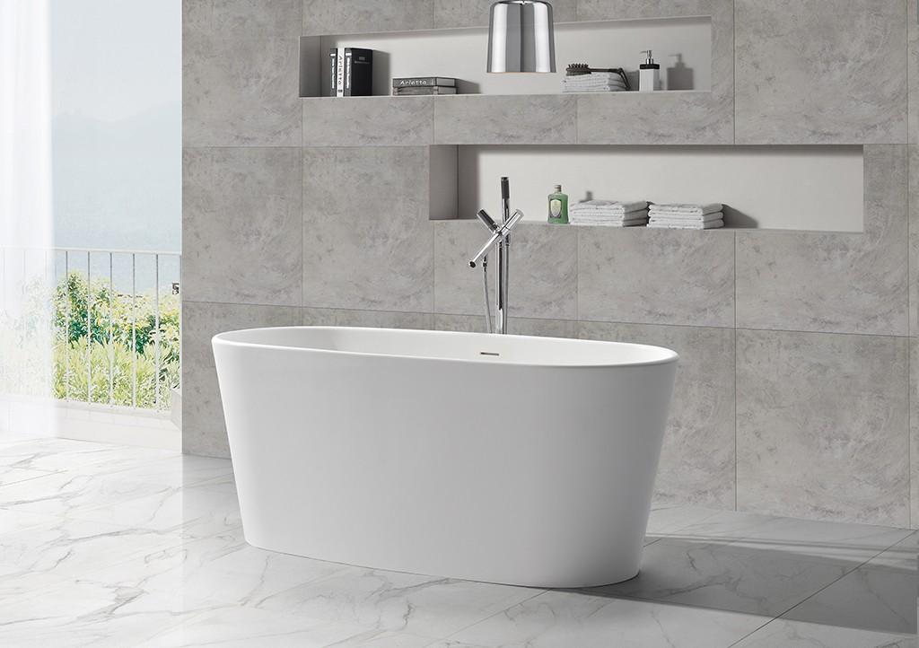 KingKonree rectangular freestanding tub OEM for family decoration-1
