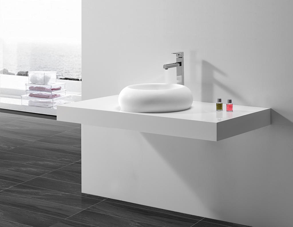 KingKonree Brand acrylic egg oval above counter basin solid supplier
