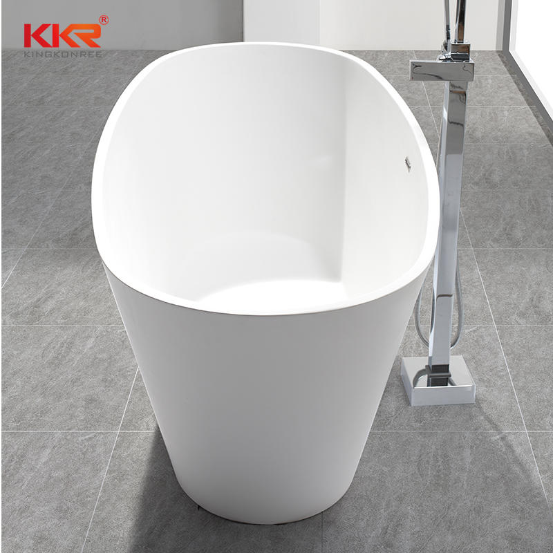Resin Stone Acrylic Solid Surface Bathroom Freestanding Bath Tubs KKR-B050