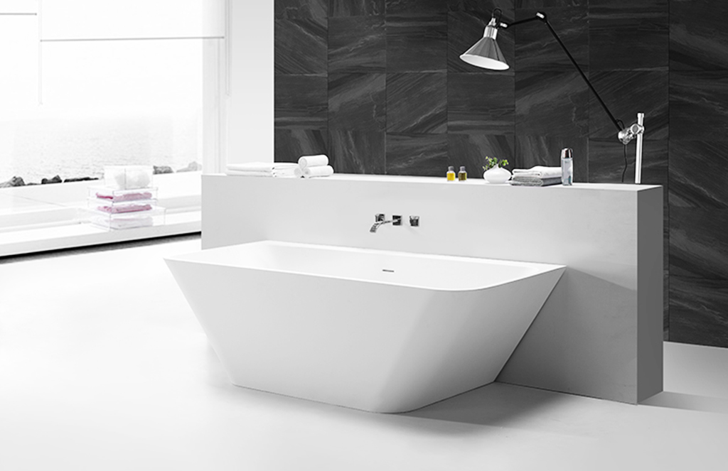 KingKonree standard solid surface bathtub free design for family decoration-1