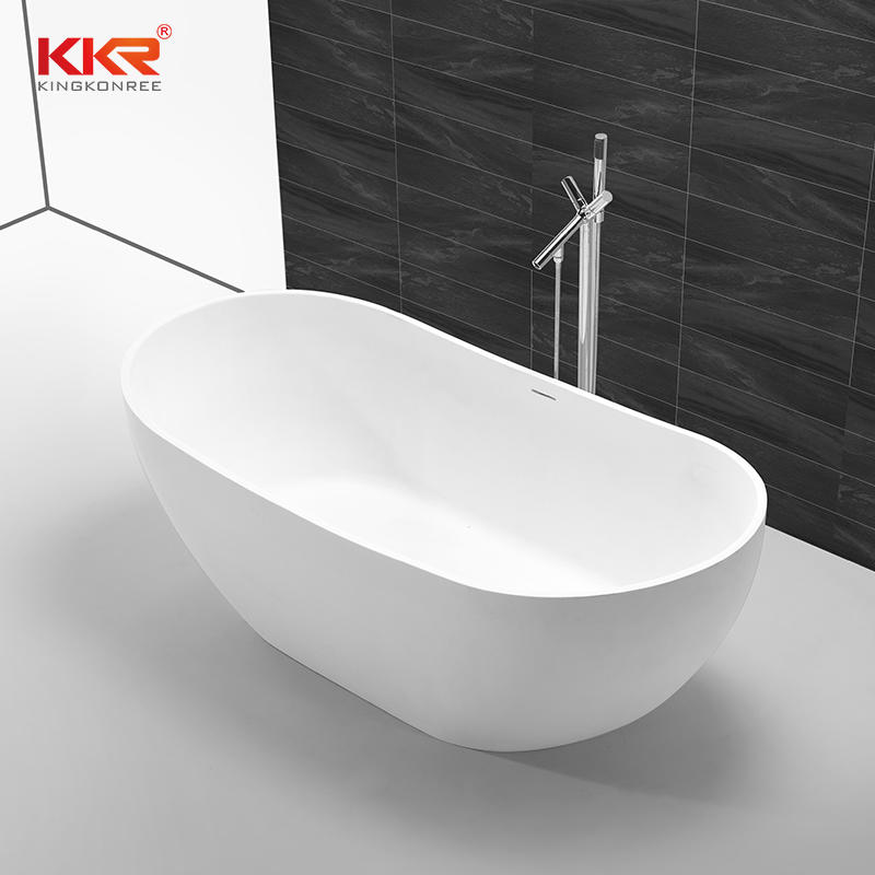 Elegante bañera de resina compuesta de piedra de superficie sólida KKR-B054