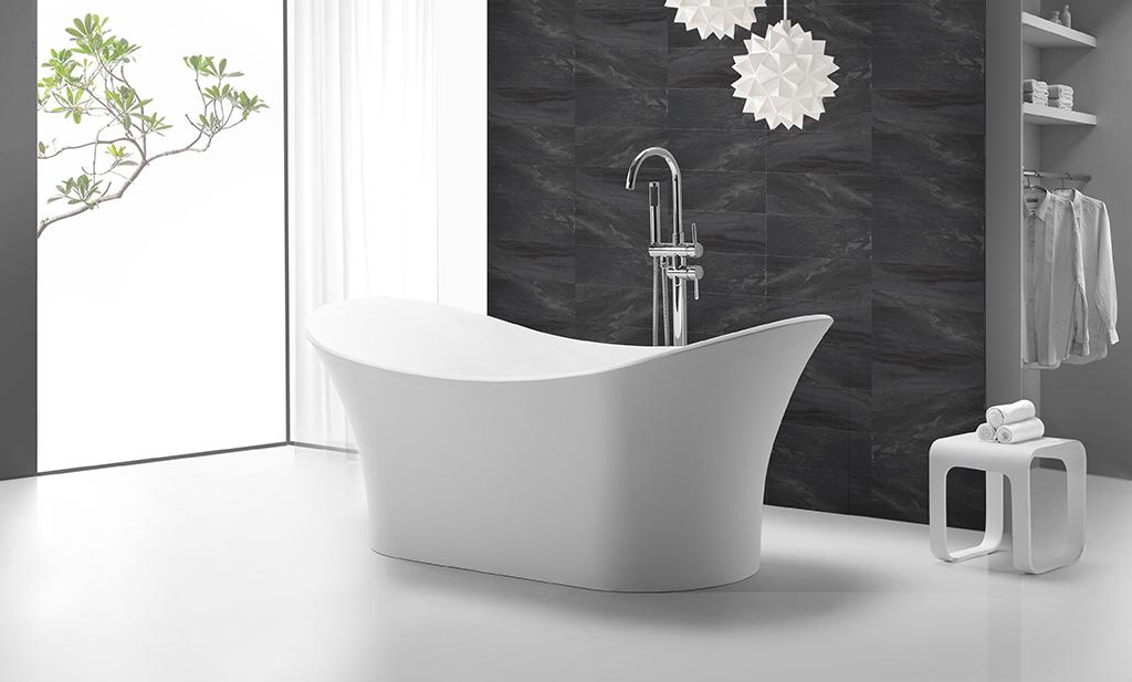 KingKonree matt bathroom freestanding tub free design for hotel-1