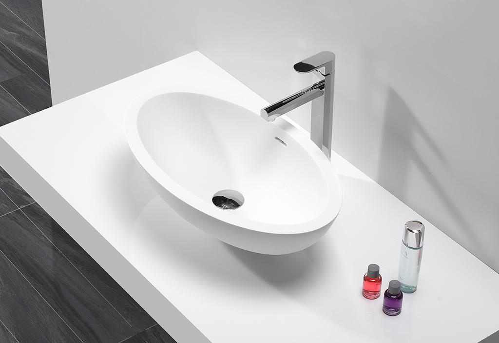 pure above counter vanity basin design for room