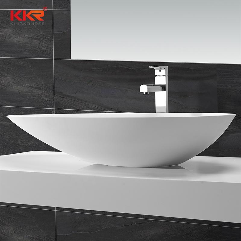 Acrylic Solid Surface Countertop Wash Basin KKR-1502