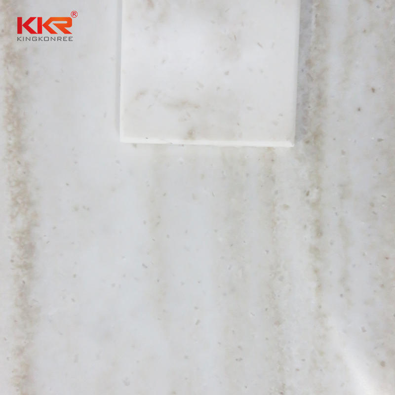 3680mm Artificial Marble Acrylic Stone Texture Pattern Solid Surface Sheet KKR-M6802