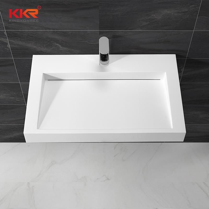 Royal White Marble Small Slope Wall Hung Wash Basin KKR-1261