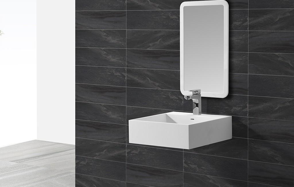 KingKonree artificial wall hung cloakroom basin design for home-1