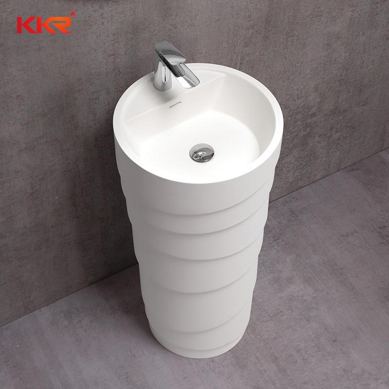 Diameter 450mm Round Design Freestanding Wash Basin KKR-1398-A