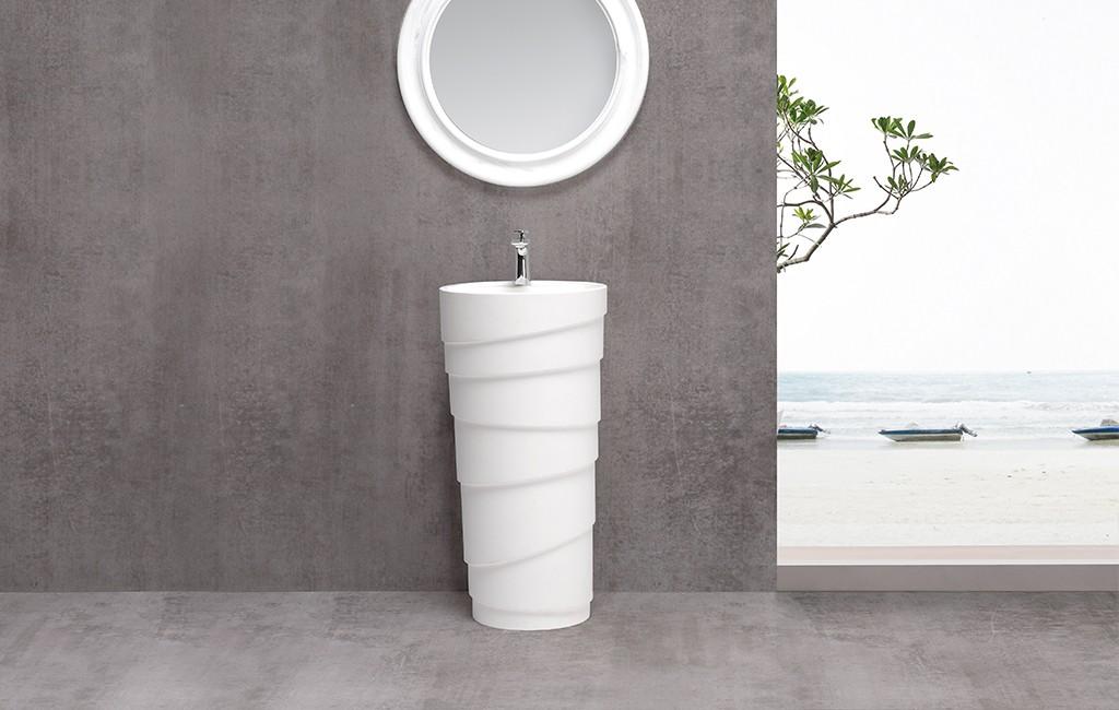 resin freestanding basin supplier for motel-1