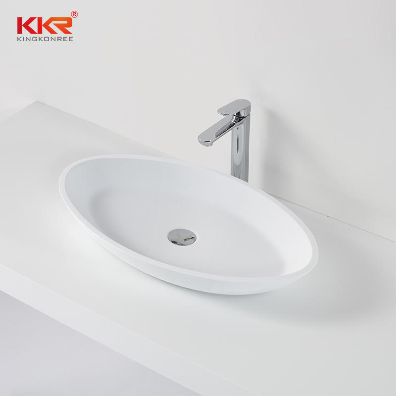 Acrylic Solid Surface Polymarble Above Counter Basin KKR-1305