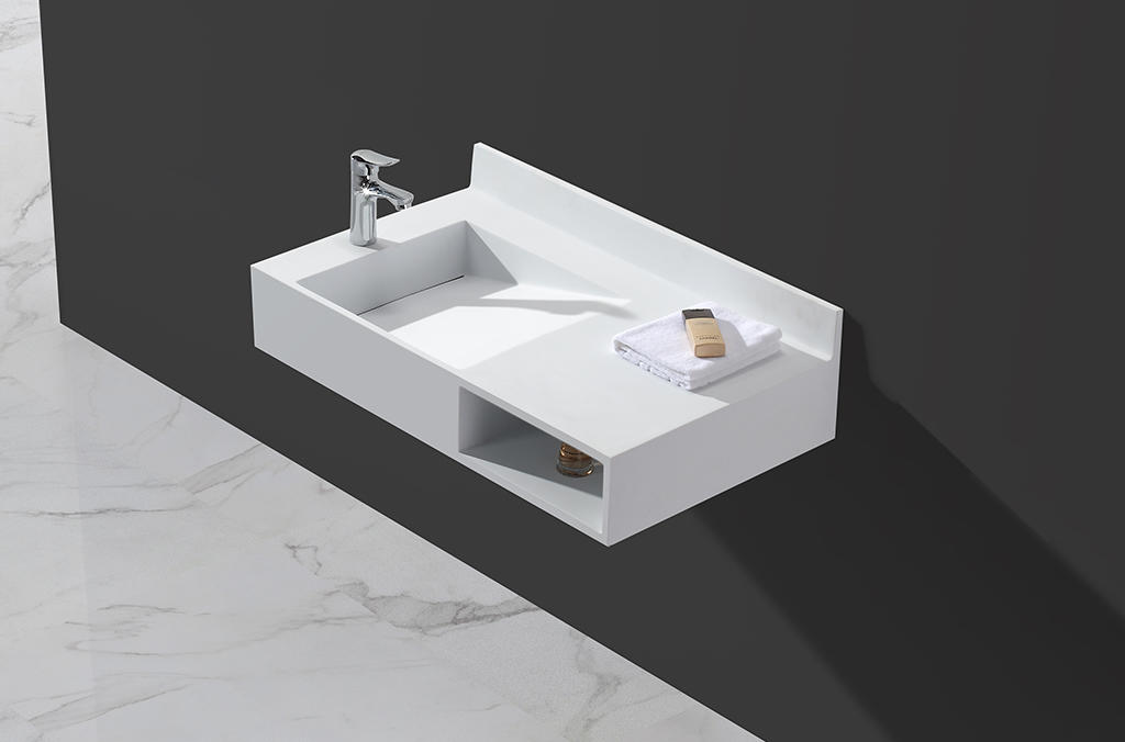 sturdy wall hung basin customized for home