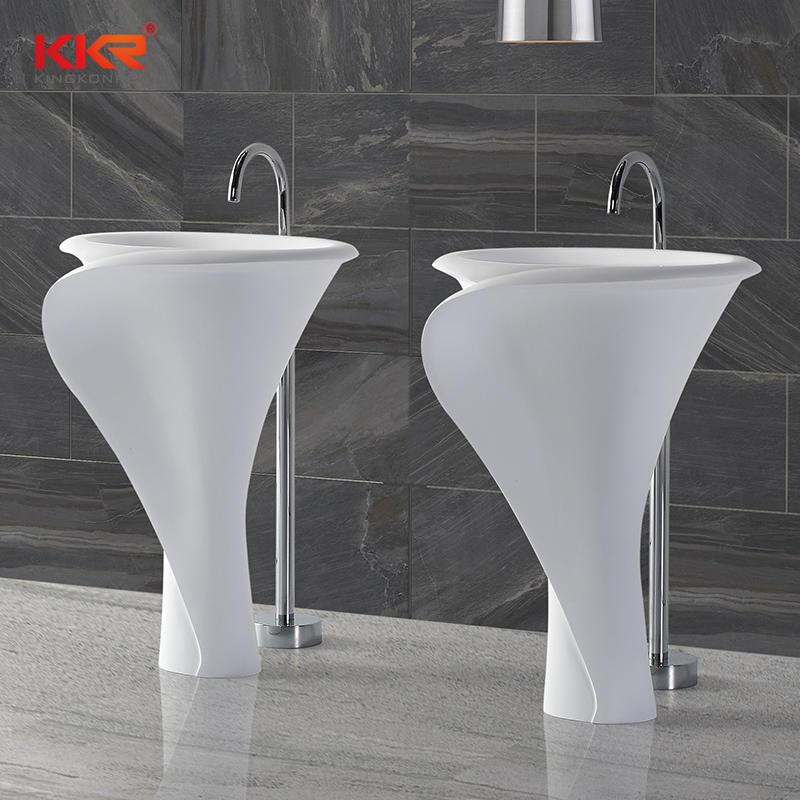 Polymarble Solid Surface Freestanding Basin KKR-1395
