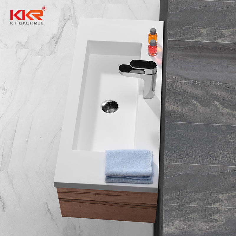 Rectangle Acrylic Stone Solid Surface Cabinet Basin KKR-1557