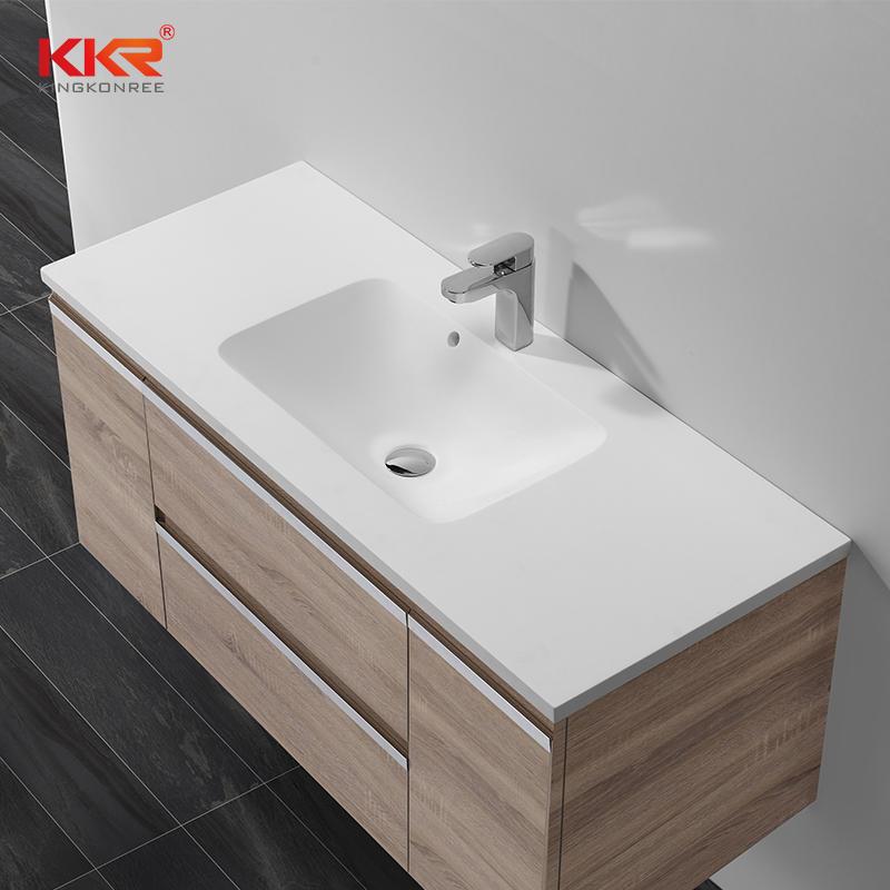 Lavabo de gabinete Surace sólido acrílico de 1200 mm Elegent Design KKR-1525