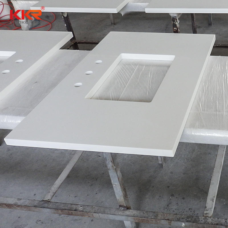 High Quality Acrylic Soild Surface Bathroom Vanity