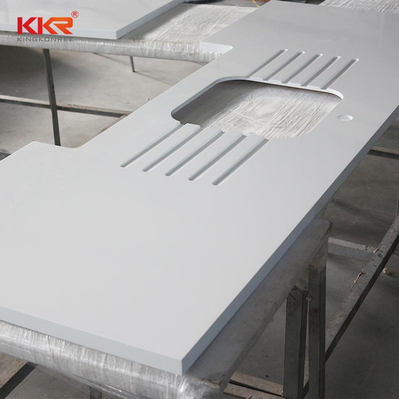 Encimera de cocina de superficie sólida modificada de diseño personalizado