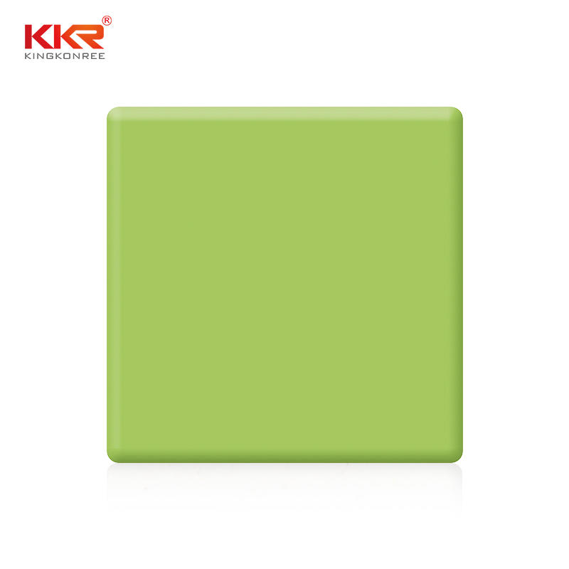 Green Modified Acrylic Soild Surface Sheets KKR-M1705
