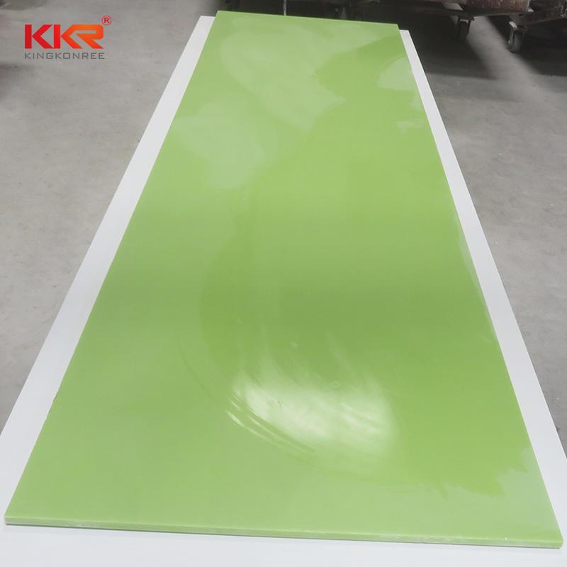 Green Modified Acrylic Soild Surface Sheets KKR-M1705