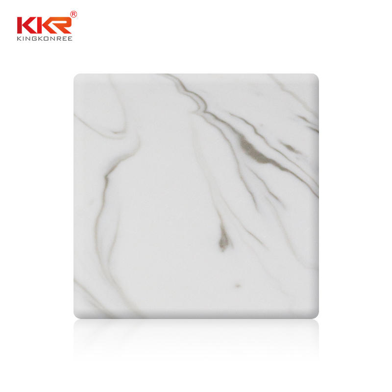 Patrón de textura de mármol artificial Hojas de superficie sólida KKR-M8818