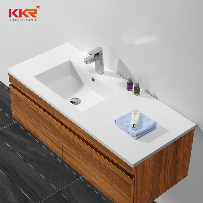 High Quality White Acrylic Solid Surface Cabinet Wash Basin KKR-1556