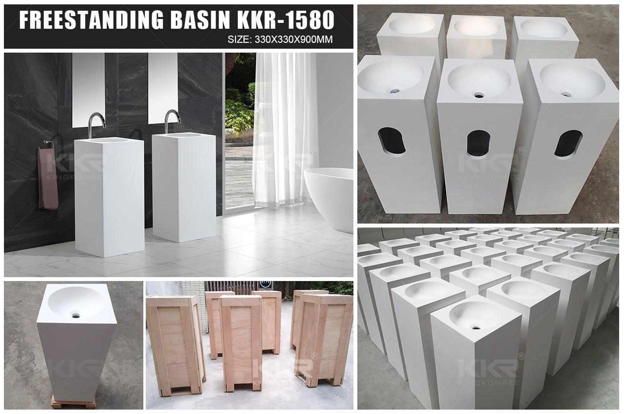 KingKonree Brand unique marble free bathroom free standing basins basin