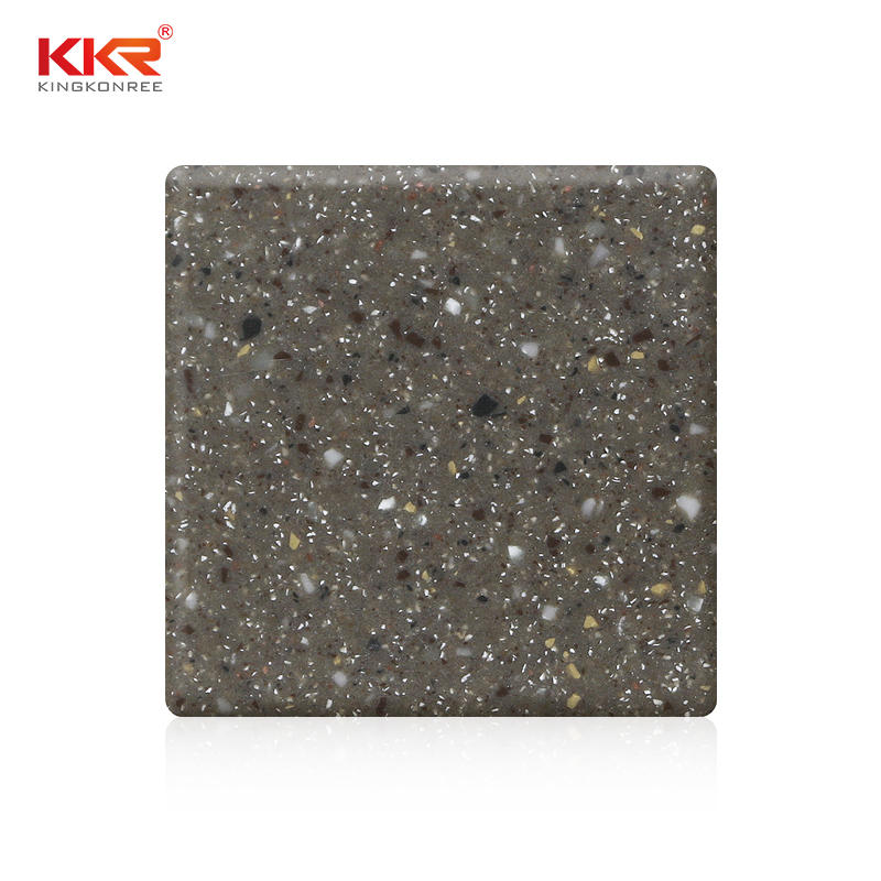 KKR Wholesale Modified Acrylic Solid Surface Sheets With Chips Color KKR-M1678