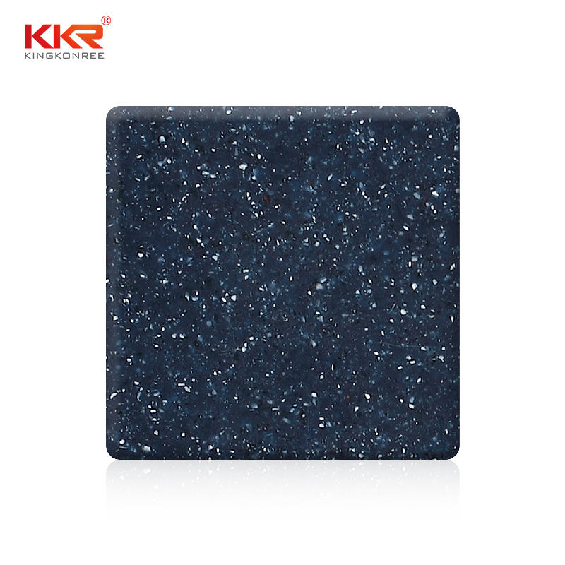 Blue Color White White Samll Chips Acrylic Solid Surface Sheets KKR-M1680