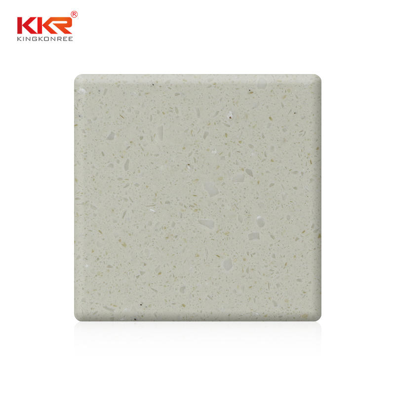 3050x760x6mm White Color White Chips Acrylic Solid Solid Surface Sheets KKR-M1681