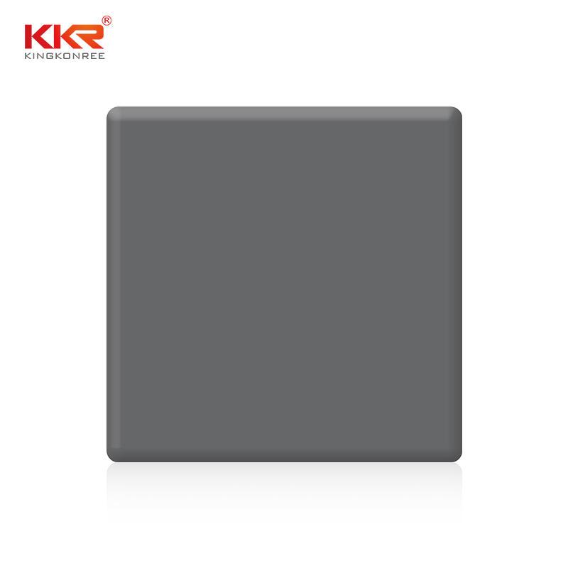 Hoja de superficie sólida de acrílico modificado en gris puro de 2440 mm de longitud KKR-M1706