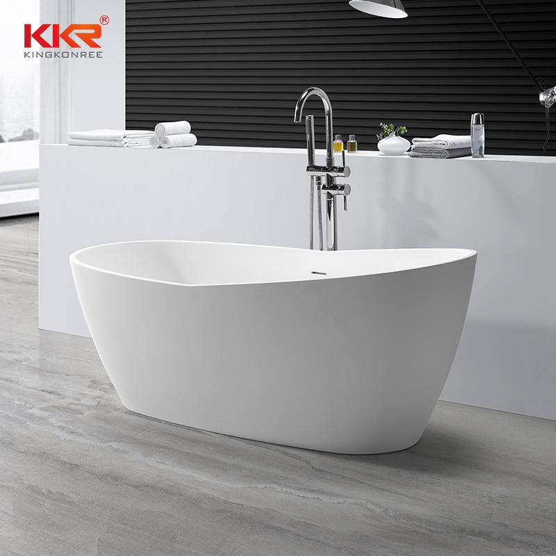 180cm Length High Quality White Solid Surface Bath Tub KKR-B063