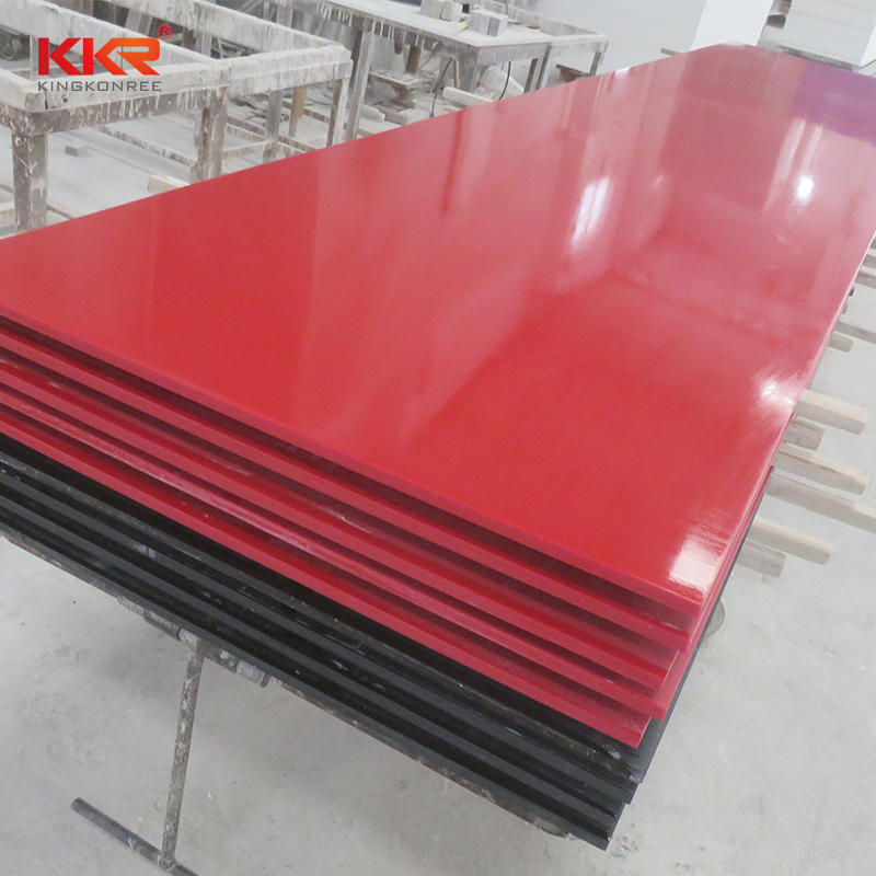 Plain Red Modified Acrylic Solid Surface Sheets KKR-M1717