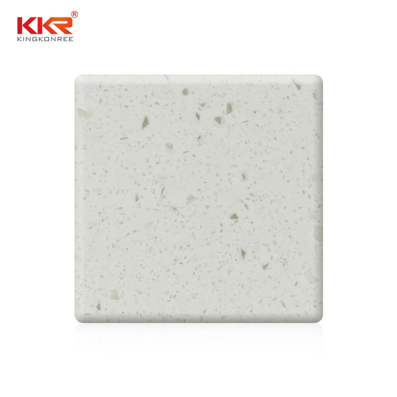 mm de ancho Color blanco con astillas Hojas de superficie sólida acrílica KKR-M1815