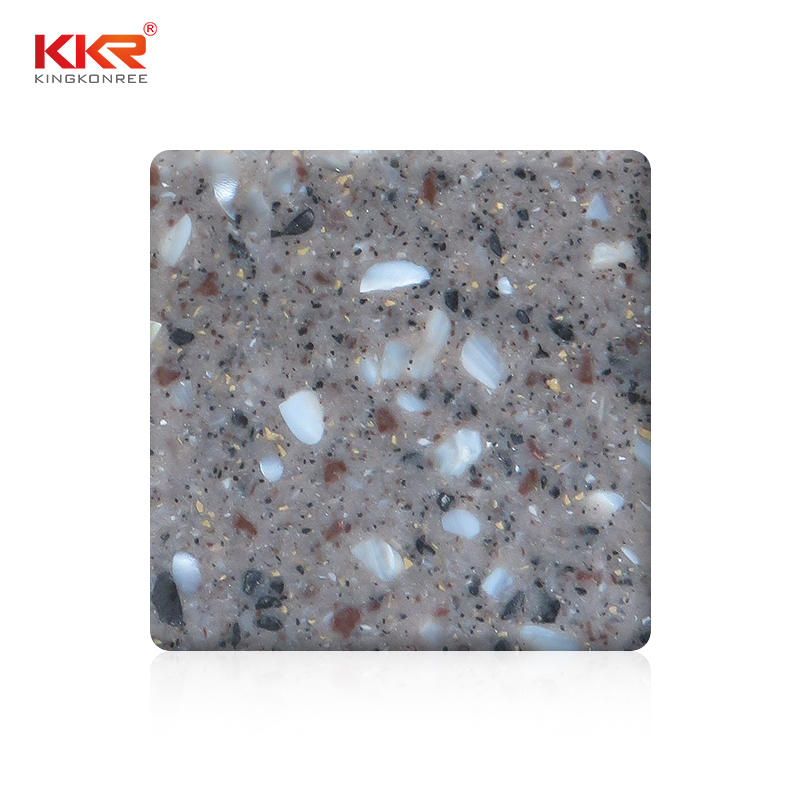 Modified Acrylic Solid Surface Sheet With Big Chips KKR-M1849