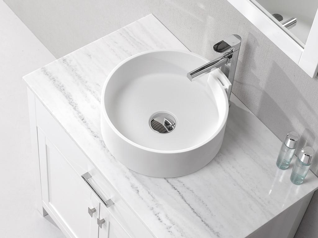 pure above counter vanity basin customized for hotel