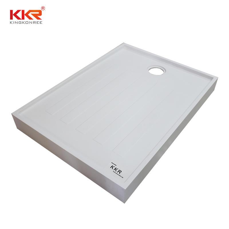 Plato de ducha de superficie sólida de piedra de resina acrílica KKR-T019