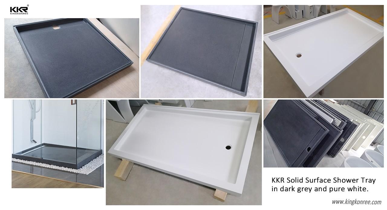 KingKonree pan shape 900 x 800 shower tray for bathroom-8