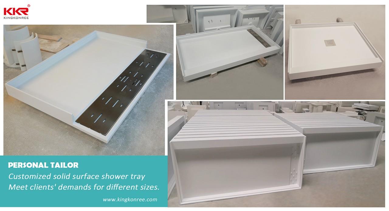 KingKonree pan shape 900 x 800 shower tray for bathroom-9