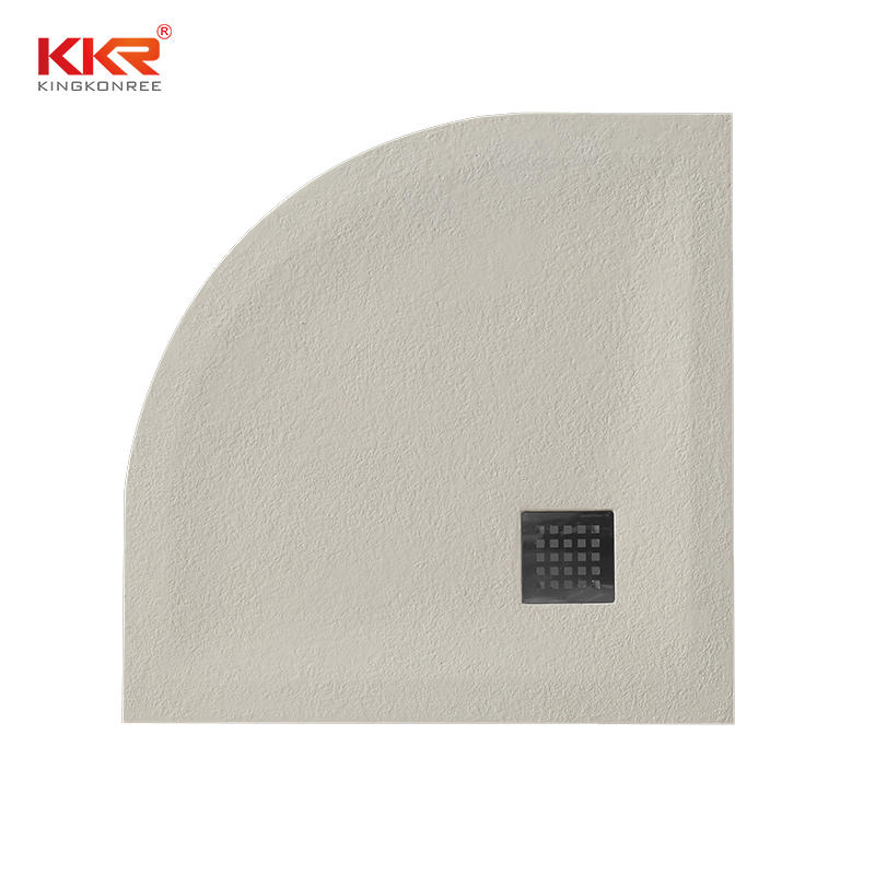 Sector Shape Artificial Marble Polymarble Shower Pan KKR-T116