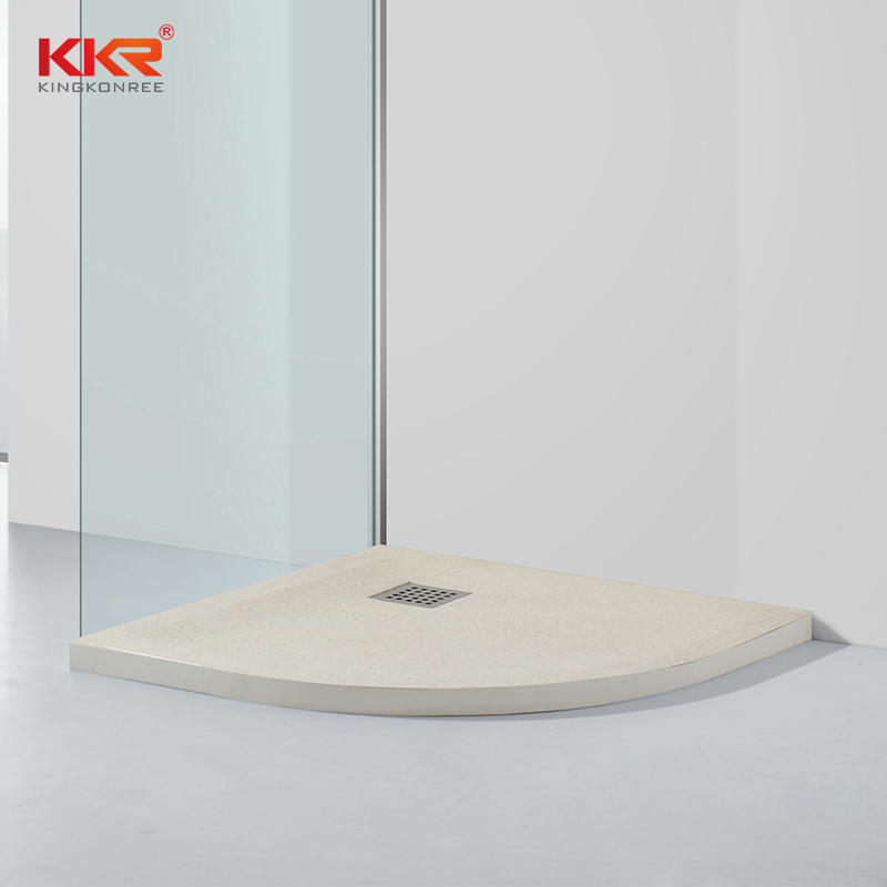 Sector Shape Artificial Marble Polymarble Shower Plato KKR-T116