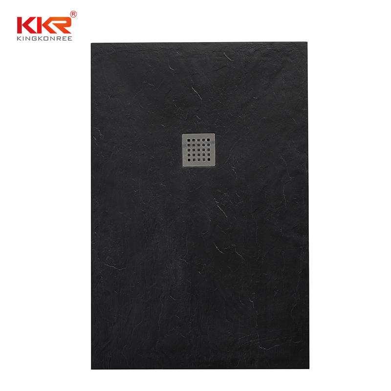Black Polymarble Artificial Stone Bathroom Shower Tray KKR-T111