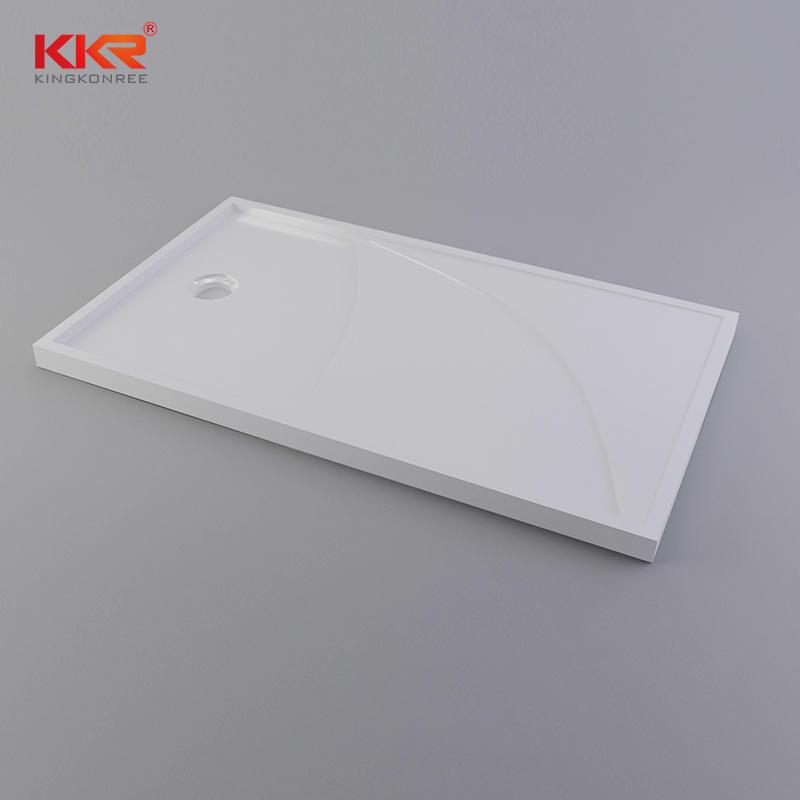 Plato de ducha rectangular de superficie sólida de acrílico KKR-T011