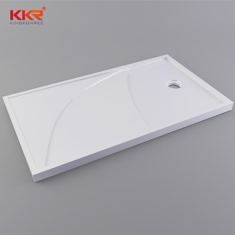 1400mm Length White Marble Solid Surface Shower Tray KKR-T012