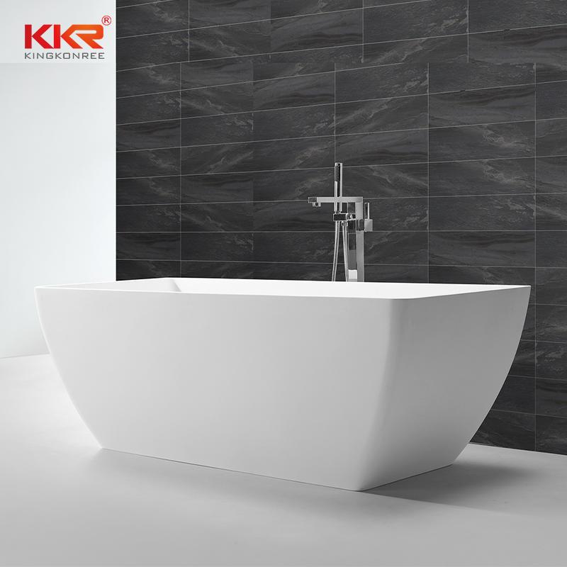 Black Matt Finish Solid Surface Bathtub KKR-B062