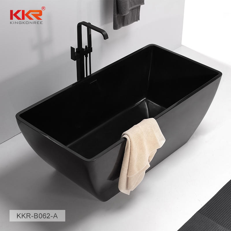 Black Matt Finish Solid Surface Bathtub KKR-B062