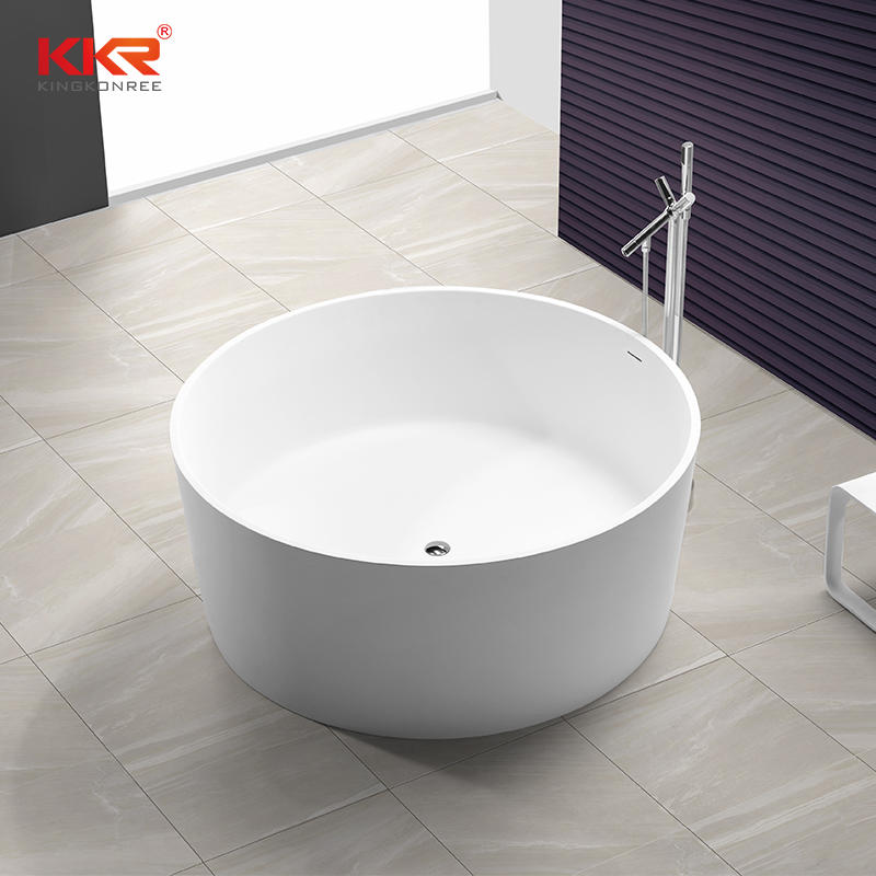 Round Soid Surface Bathtub With Overflow KKR-B064