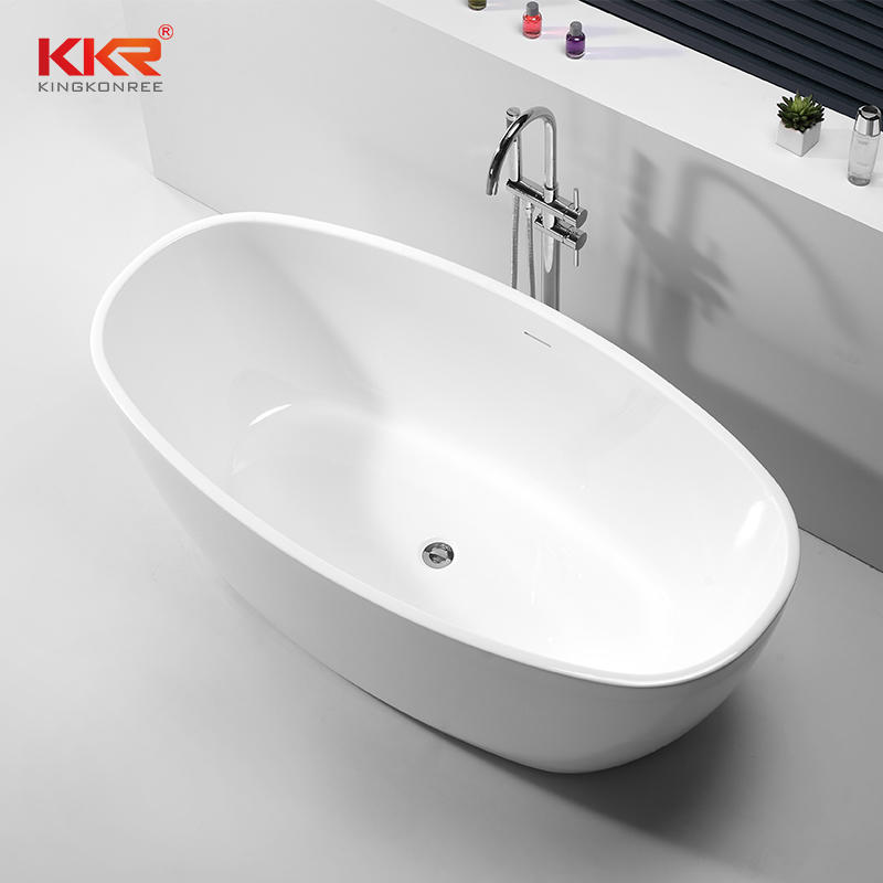 Glossy Surface Finish Soild Surface Bathtub KKR-B065
