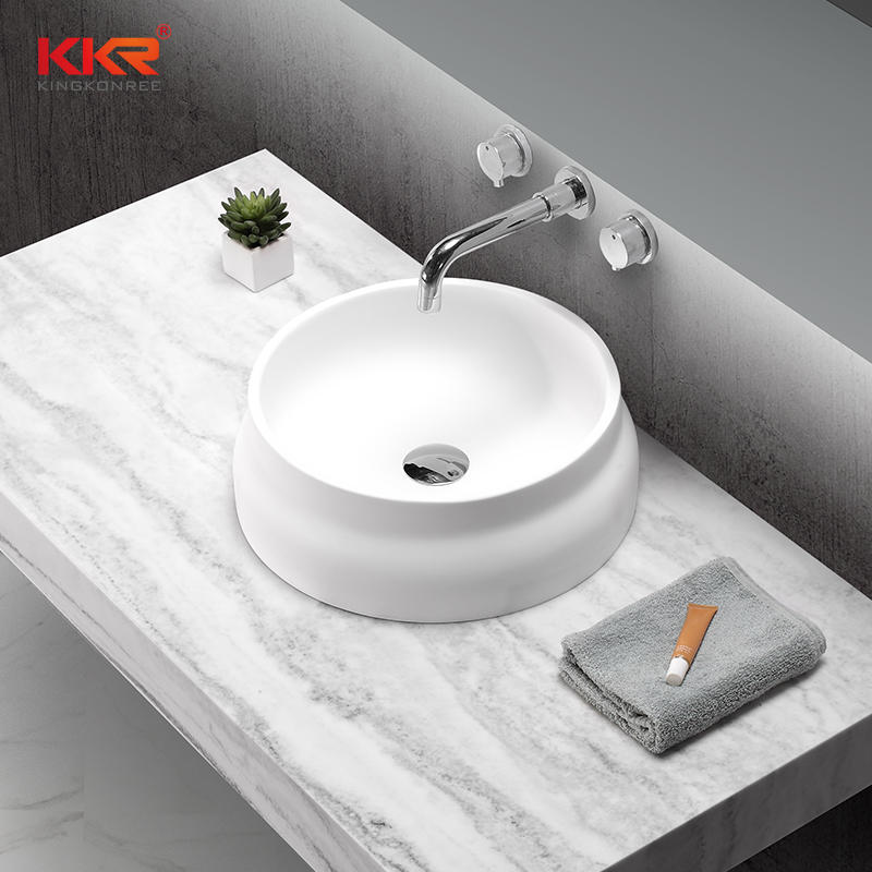 Round Solid Surface Wash Basin Made By High Quality Material KKR-1509