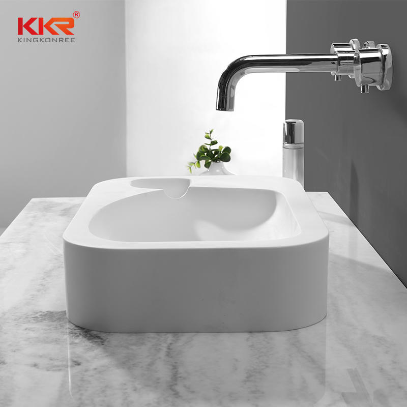 High Quality White Solid Surface Above Counter Basin KKR-1512
